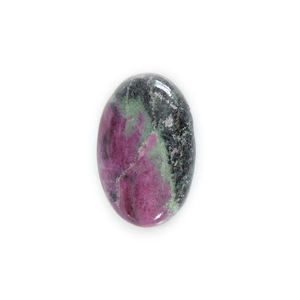 ruby fuschite oval gemstone - for handmade custom rings with semi precious stones in silver and gold