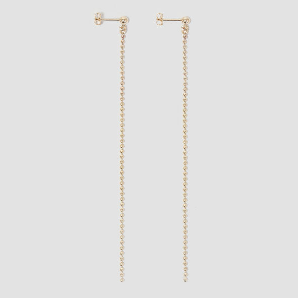 alice eden jewellery Dot Dash Ball Chain Long Drop Earrings jewelry