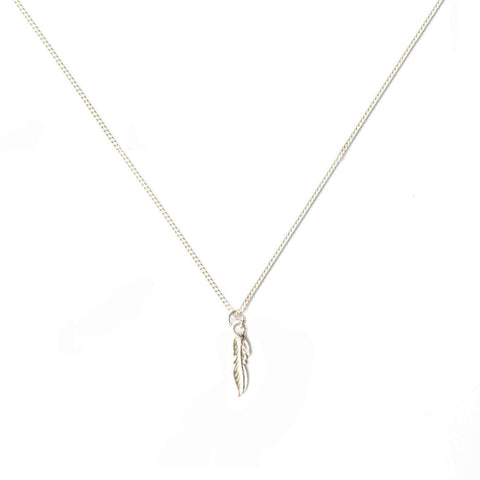 alice eden jewellery jewelry silver single feather charm necklace