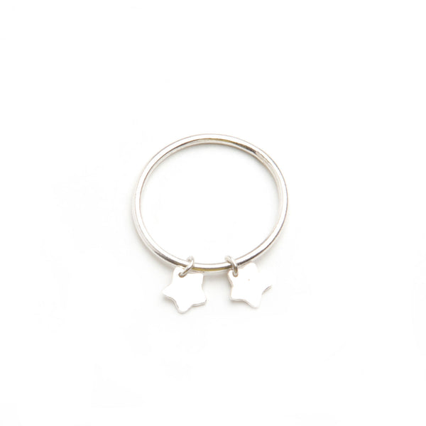 alice eden jewellery jewelry tiny silver star charm stacking pinkie ring