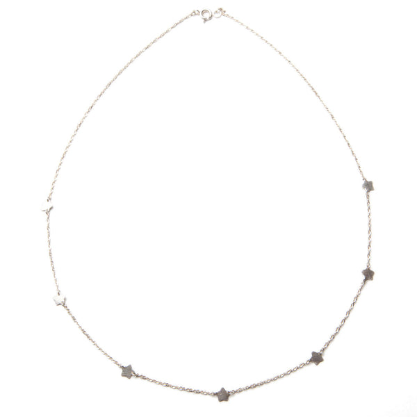 Silver Tiny Star Charm Necklace