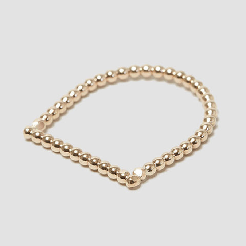 alice eden jewellery Dot Dash Gold U Shape Dotty Ring jewelry