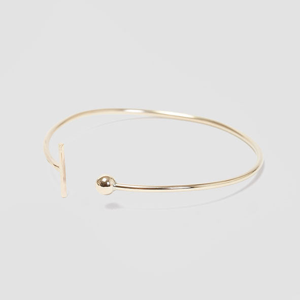 alice eden jewellery Dot Dash Adjustable Silver Bangle jewellery
