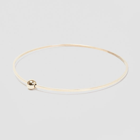 Dot Dash Square Ball Bangle