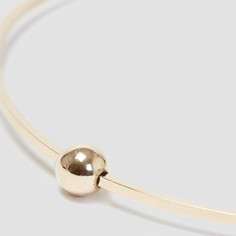 Alice Eden Jewellery Dot Dash Square Ball Gold Bangle Jewelry