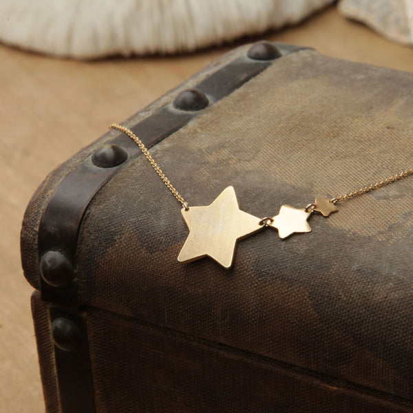 alice eden jewellery jewelry gold filled shooting star charm necklace