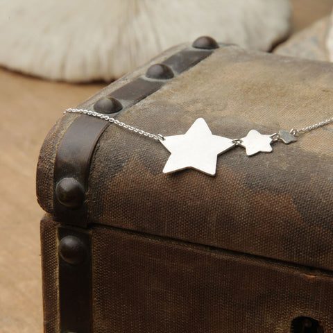 alice eden jewellery jewelry silver shooting star charm necklace