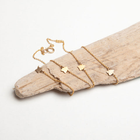 alice eden delicate tiny gold filled star charm necklace