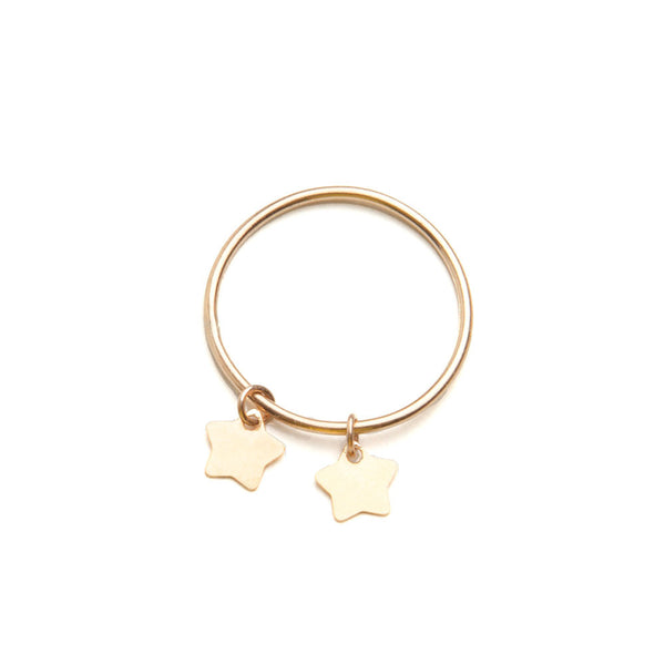 alice eden jewellery jewelry gold star charm stacker stacking pinkie ring