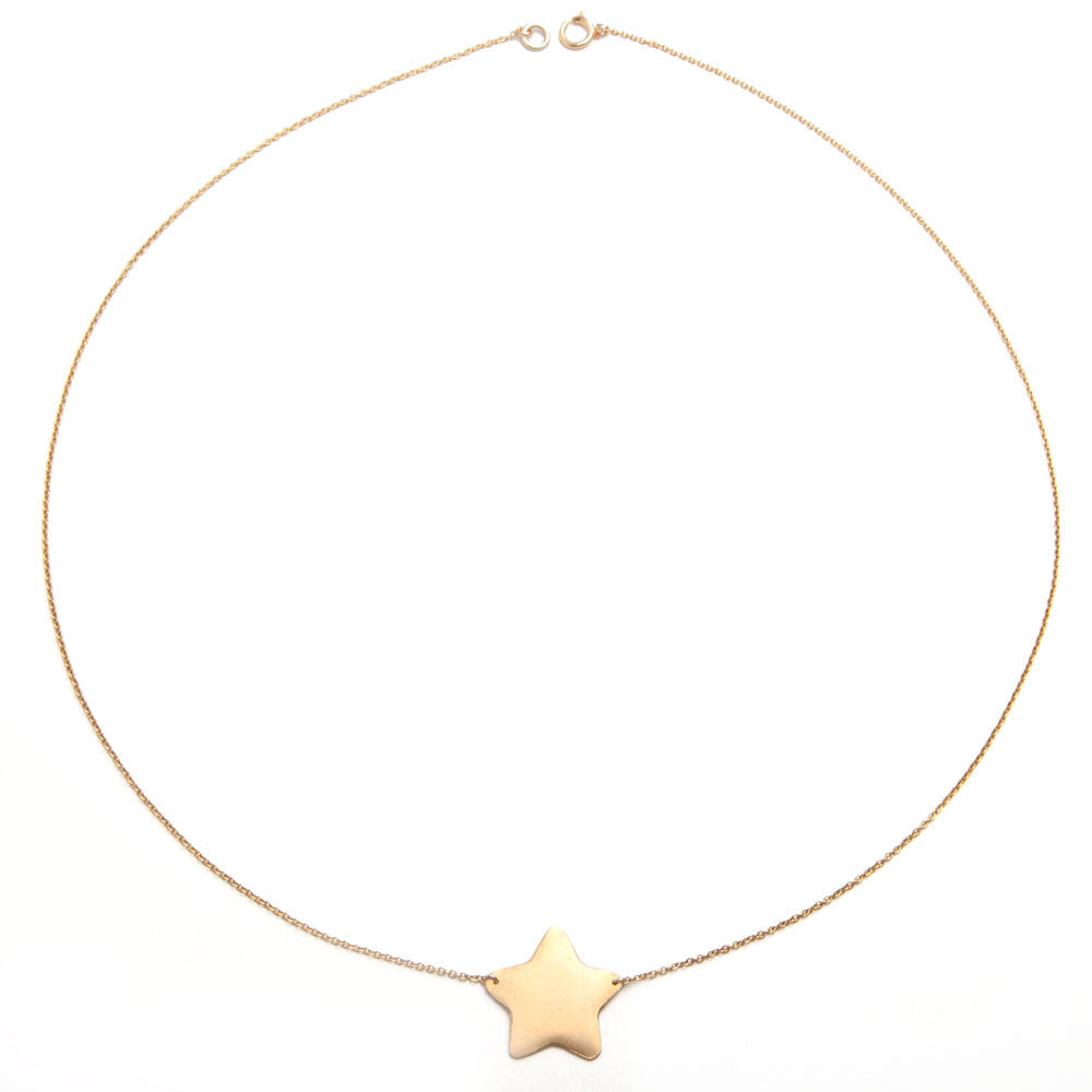Alice eden jewellery gold large single star charm necklace aliceeden alice eden jewellery jewelry large gold filled star pendant necklace mozeypictures Choice Image