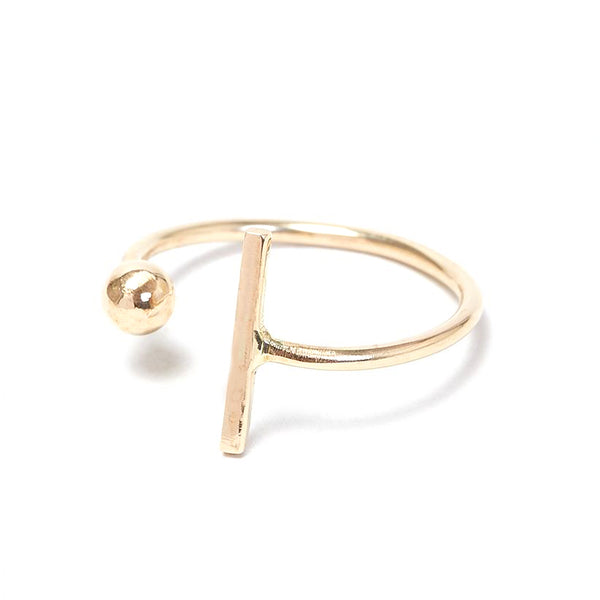 Gold Dot Dash Adjustable Ring