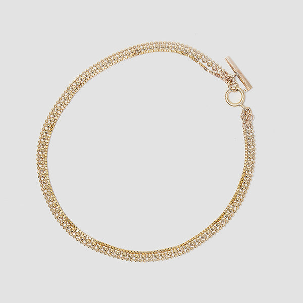 Dot Dash Layered Chain Bracelet