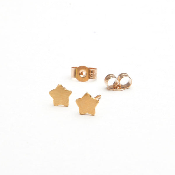 alice eden jewellery jewelry gold star charm stud earrings