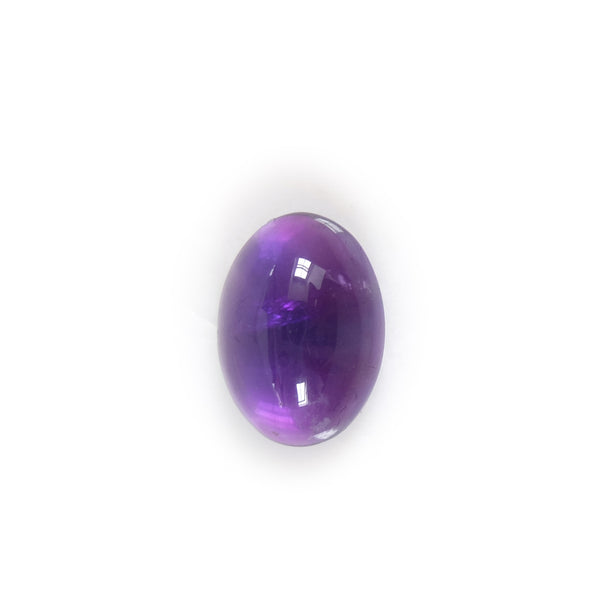 amethyst oval gemstone sterling silver ring - handmade by alice eden - top
