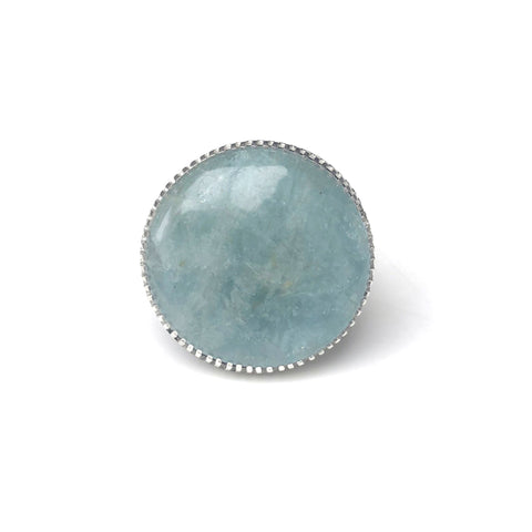 Aquamarine Gemstone Ring Set in Sterling Silver