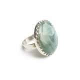 Aventurine Gemstone Ring Set in Sterling Silver
