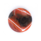 Orange Banded Agate Round Gemstone