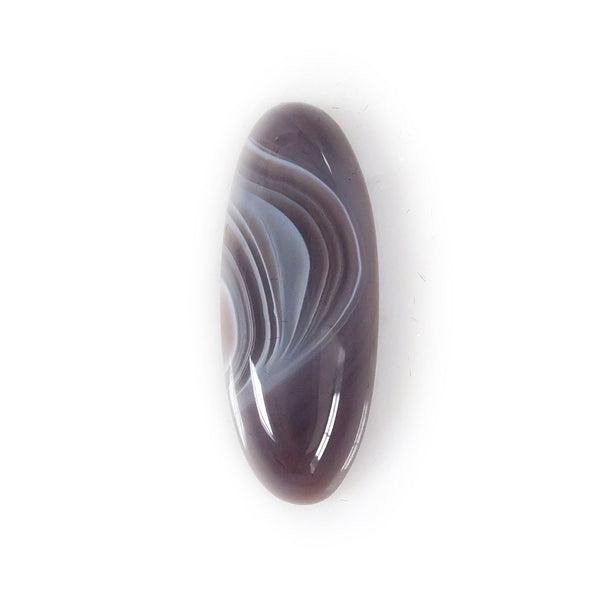botswana agate oval gemstone - bespoke handmade rings UK
