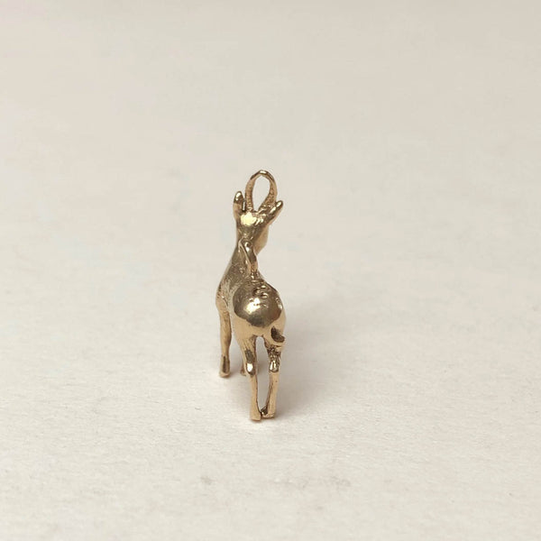 Vintage 9ct Gold Charm - Reindeer Stag Charm - vintage charms