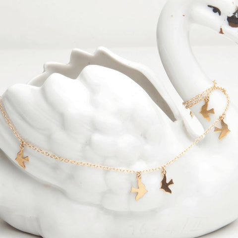 alice eden jewellery jewelry tiny gold bird charm necklace
