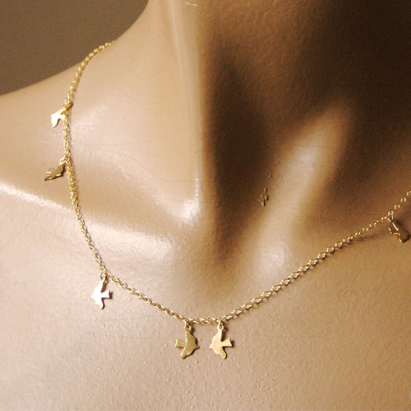alice eden jewellery jewelry delicate gold bird charm necklace