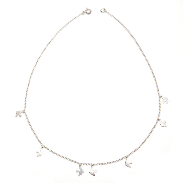 alice eden jewellery jewelry delicate silver bird charm necklace