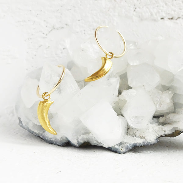 Fox Claw Hoop Earrings