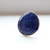 Lapis Lazuli Gemstone Ring set in 9ct Gold & Sterling Silver