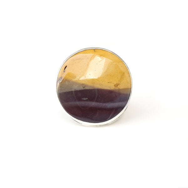 Unusual Mookaite Gemstone Ring set in Sterling Silver