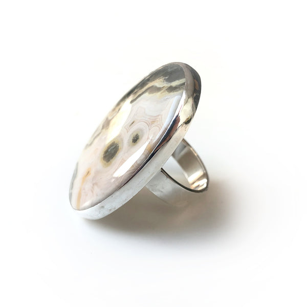 Ocean Jasper Ring Set in Sterling Silver