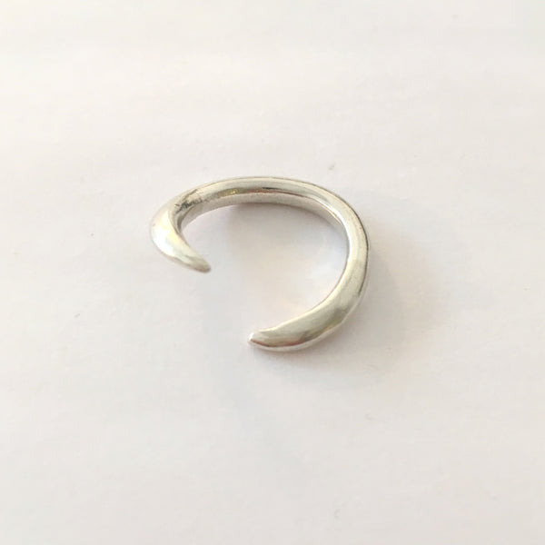 Silver Double Claw Ring