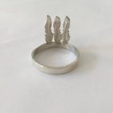 alice eden silver 3 feather chief ring native american jewellery