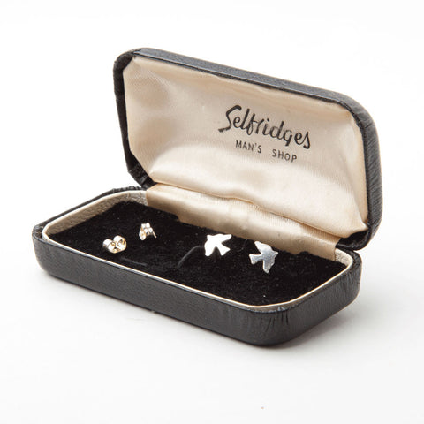alice eden jewellery jewelry delicate silver bird charm stud earrings