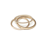 Set of Three Fine Gold Stacking Rings
