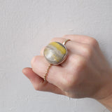 Rare Bumble Bee Jasper Gemstone Ring Set in Sterling Silver