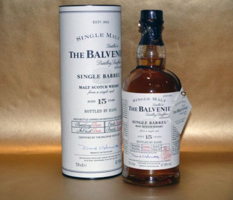 Balvenie 12 yr single barrel single malt whisky