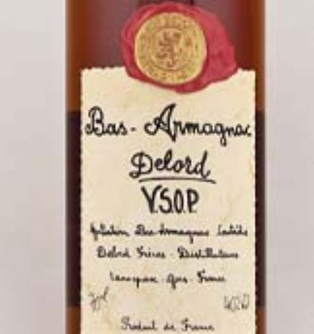 Delord Bas VSOP Armagnac in a hand made wooden gift box