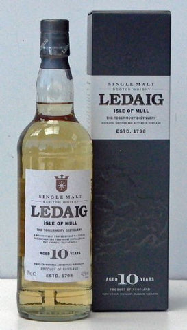 Ledaig 10 year old whisky