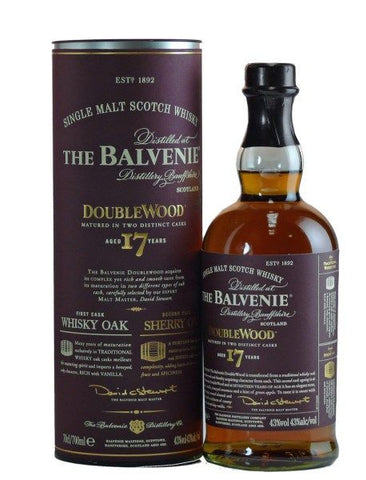 Balvenie 17 yo Double Wood single malt whisky