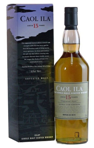 Caol Ila 15 year old islay single malt whisky 'Unpeated Style'