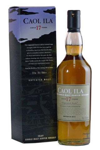 Caol Ila 17 year old islay single malt whisky