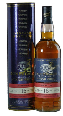 Deanston 16 yo single malt whisky by Dun Bheagan