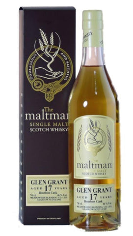 Glen Grant 17 yr single malt Scotch Whisky The Maltman bottling
