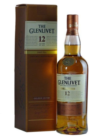 "Glenlivet ""First Fill"" Sherry Cask 12 year old Scotch Whisky"