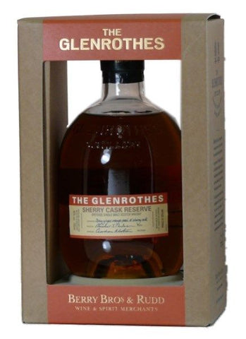 Glenrothes Sherry cask reserve single malt Whisky