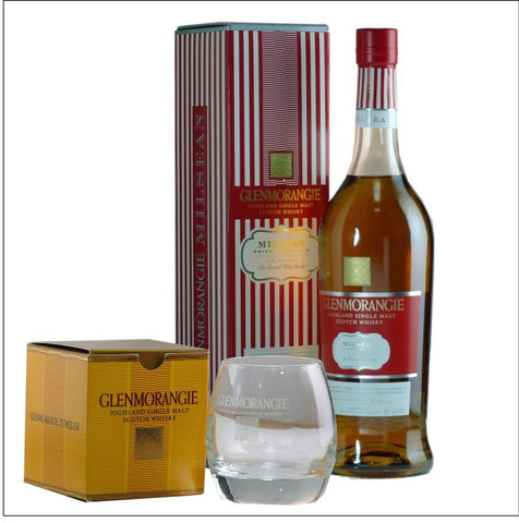 Glenmorangie Private Edition Milsean Single Malt with glass