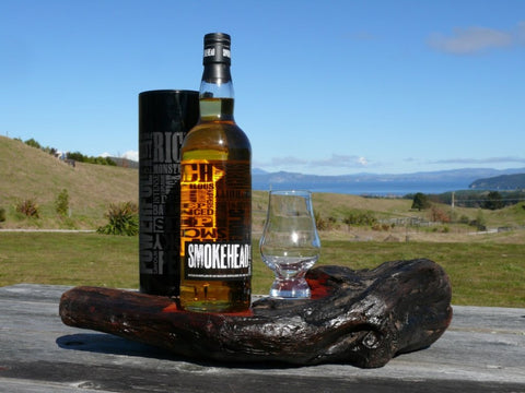Mudfish. Driftwood Whisky Art Stand