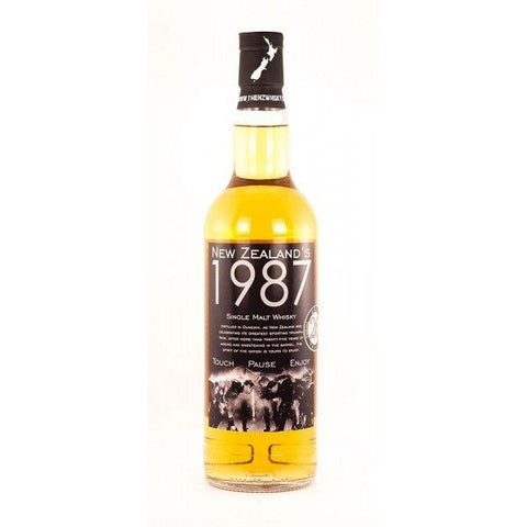 NZWC 1987 touch pause enjoy single malt whisky aged 27 years