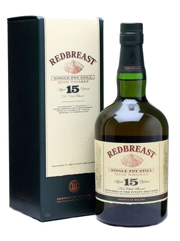 Redbreast 15 year old Irish whiskey