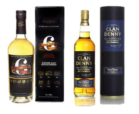 The Six Isles  and Clan Denny Islay Blended Malt twin pack